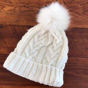 Gap Kids knit cream stocking hat